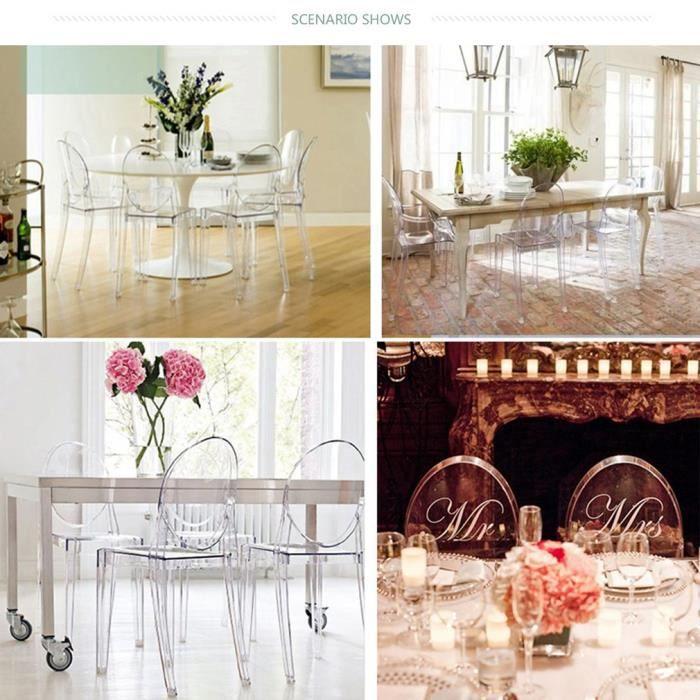 Lot De 4 Chaise Transparent De Salle A Manger Design Achat Vente