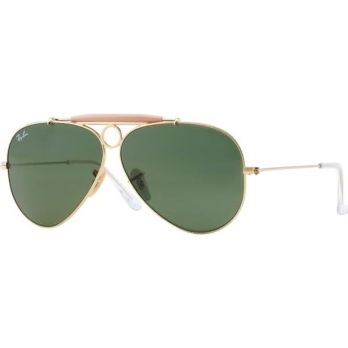080abfe24c8365 Lunettes de soleil pour homme RAY BAN Or RB 3138 SHOOTER 001 62 9 ...