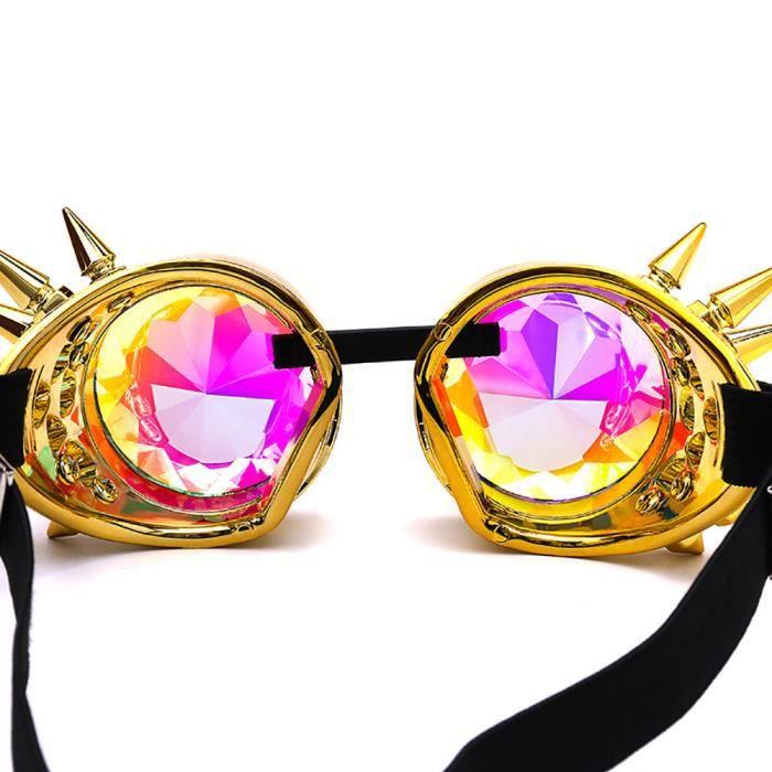 f444cd90185d18 ... Deuxsuns®Lunettes colorées de Kaléidoscope Rave Festival Party EDM  Lunettes de soleil Diffracted zf174