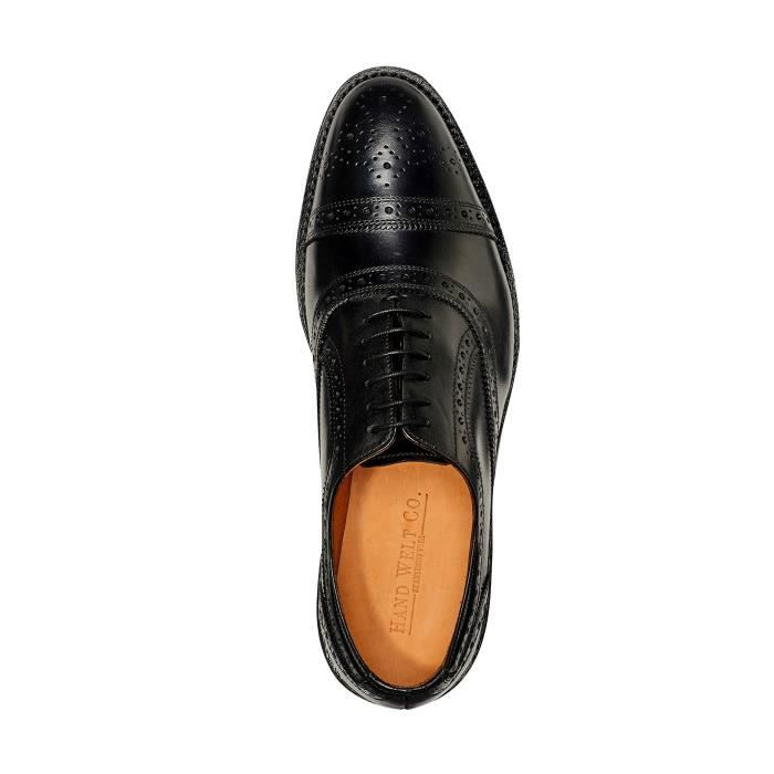 Mens Truman Derby Leather Shoe In Goodyear Welted Construction W190Y Taille-40 1-2 God1vSMoU