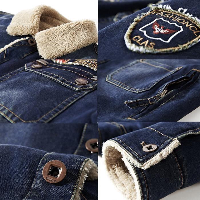 Blouson D'hiver Slim Sauvage Vêtement Mode En Marque De Jean Masculin Manteau Homme wwZBg