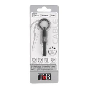 TNB Câble USB de charge Lightning - Noir/gris