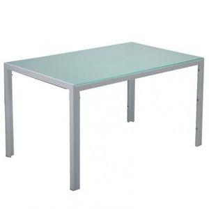 TABLE À MANGER SEULE TABLE À MANGER EN VERRE BLANC MALIA