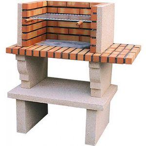 BARBECUE Barbecue en pierre reconstituée et brique  Beige
