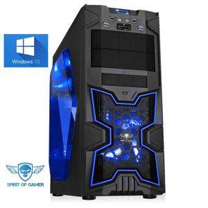 UNITÉ CENTRALE  PC Gamer XFighters Bleu - A4-6300 - 8GO RAM - 1000
