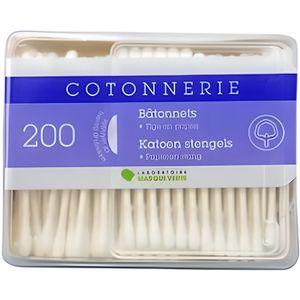 DISTRIBUTEUR DE COTON Marque Verte Cotonnerie 200 bâtonnets