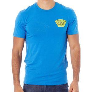 T-SHIRT Tee shirt Fox Seek and Construct - Tech Dusty Bleu