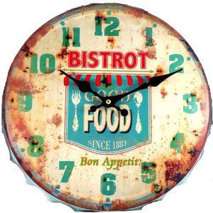 Horloge capsule achat vente horloge capsule pas cher cdiscount for Horloge murale style bistrot