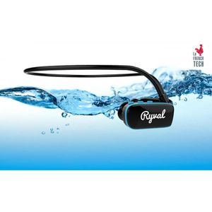 CASQUE - ÉCOUTEURS RYVAL Casque MP3 Waterproof 4Go - Noir