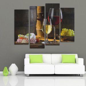 TABLEAU - TOILE Peinture à l'Huile Tableau Panneaux Abstraite Vin