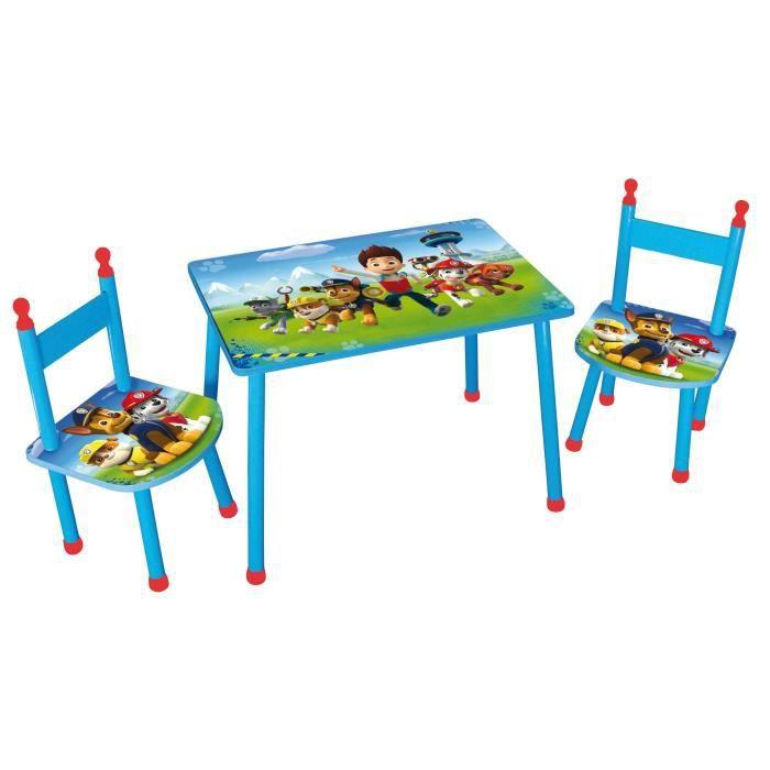 PAT PATROUILLE Table + 2 Chaises