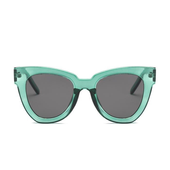 cd-8870 Femmes Hommes Vintage Retro Lunettes Mode Unisexe Aviator Lunettes de soleil miroir lentille vert