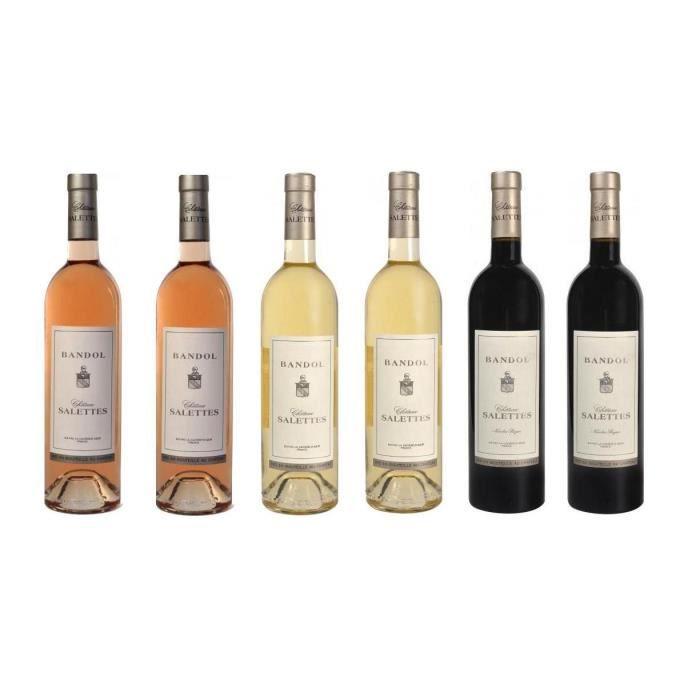 ASSORTIMENT VIN Lot Découverte de 6 Château Salettes - AOP Bandol