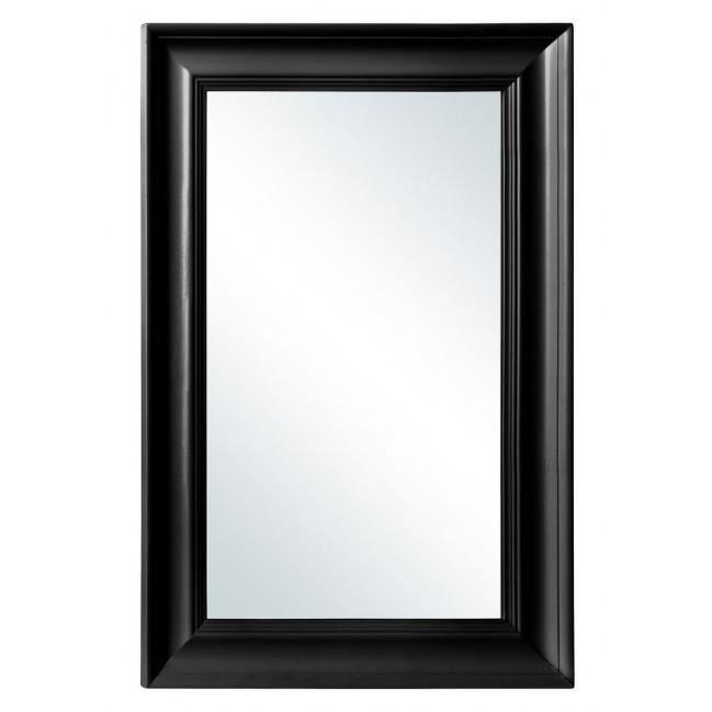 miroir mural en bois noir haut 90cm achat vente miroir cdiscount. Black Bedroom Furniture Sets. Home Design Ideas