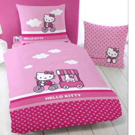 parure de lit enfant hello kitty amarena achat vente parure de drap cdiscount. Black Bedroom Furniture Sets. Home Design Ideas