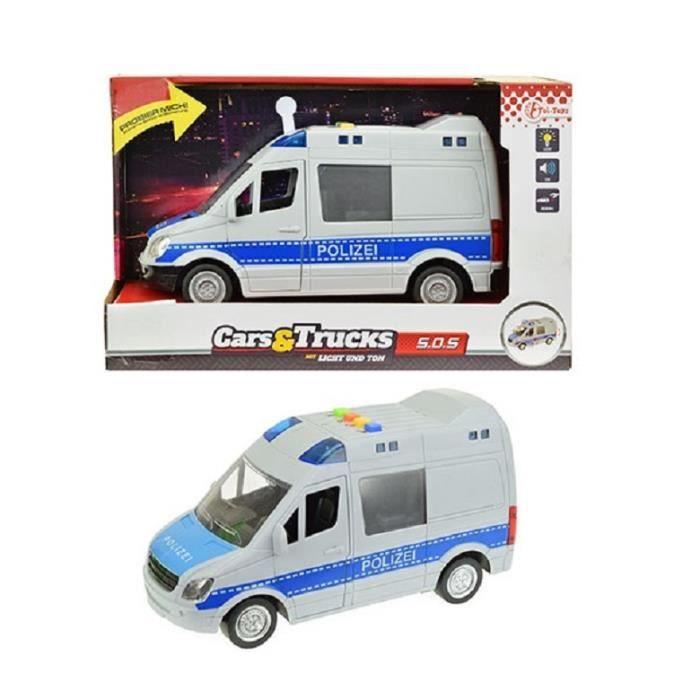 Jouet Cm Camion Friction Police A De Enfant Gris Son Et 21 Lumiere n0wOkP