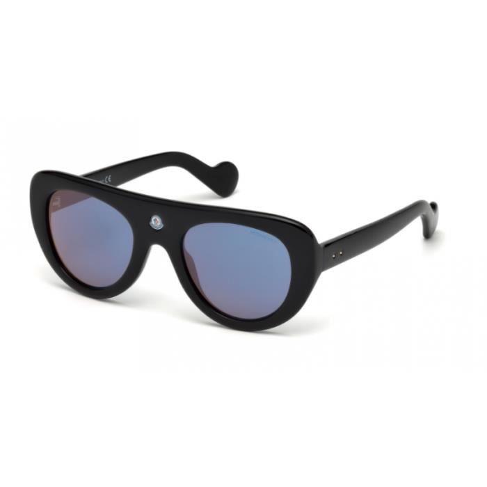Lunettes de soleil Moncler Snowcat ML0002 01Z Noir Brillant 50-22