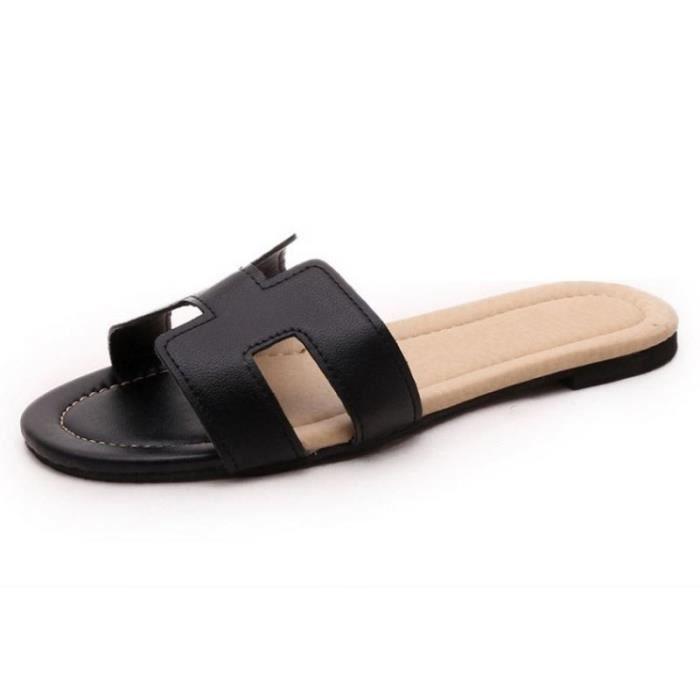 chaussure femme de marque pantoufles d'été sandales plates femme respirant sandales d'été sandale marque tongs femme ete 2017