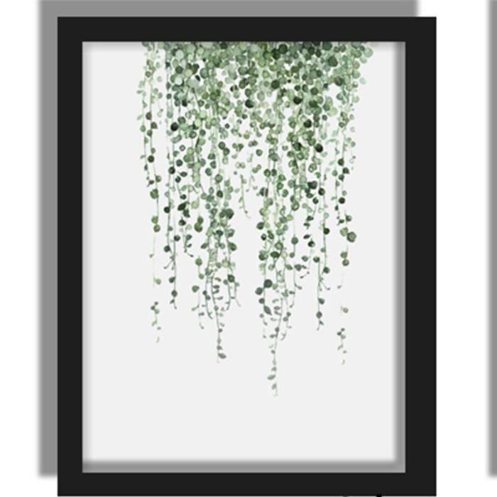 Plantes Vertes Peinture à Lu0027encre   Affiche De Peinture Canevas Chambre  Salon Décoration Murale De Fond 21×30cm