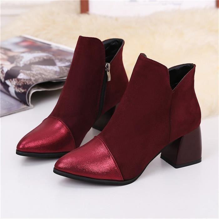 Femmes Mode Fox d'hiver de fourrure de lapin Tassel Suede neige cuir véritable Bottes Femme & # 39; chaussures,noir,37