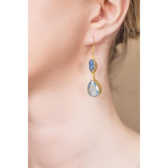 Sc10306 Gold-plated Hydro Glass Earrings XVJWH