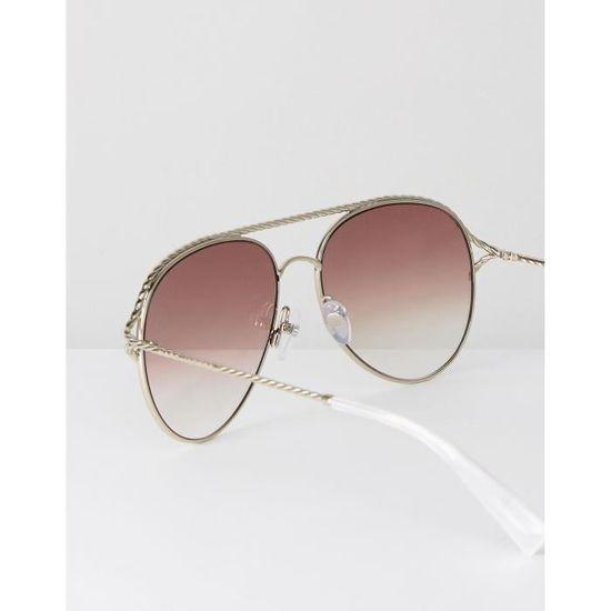 8b22c18194a701 Marc Jacobs 168-S - Lunettes de soleil aviateur - Argenté CA7WR - Achat    Vente lunettes de soleil Femme Adulte Gris - Soldes  dès le 9 janvier !  Cdiscount