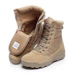 Automne - hiver Forces spéciales Bottes de combat Desert Outdoor Boots Tide Martin Bottes hautes-top Chaussures Hommes,bleu,8
