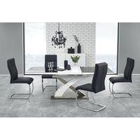 TABLE À MANGER SEULE TABLE EXTENSIBLE DESIGN 160÷220/90/75 CM - NOIR/BL