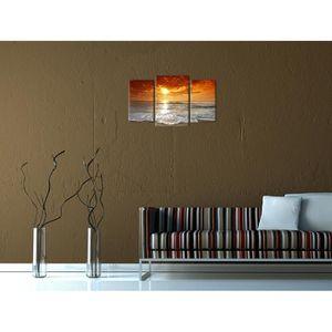 tableau coucher de soleil achat vente tableau coucher de soleil pas cher cdiscount. Black Bedroom Furniture Sets. Home Design Ideas