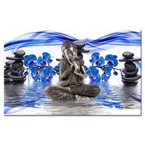 TABLEAU - TOILE Tableau Déco Zen Feeling - Zen - 80x50 cm