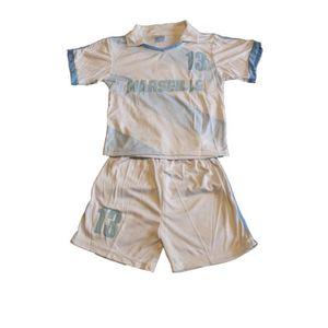76055db5505c9 Ensemble de vêtements ensemble marseille blanc short et maillot