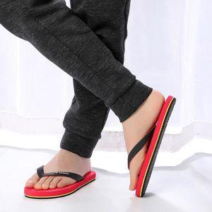 ESPADRILLE Sandales anti-dérapantes d'été pour hommes@rouge