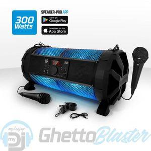 ENCEINTE ET RETOUR Enceinte Sono Mobile LED RVB - 300W - USB-BT-RADIO