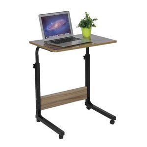SUPPORT PC ET TABLETTE table pour ordinateur à roulettes pliable portable