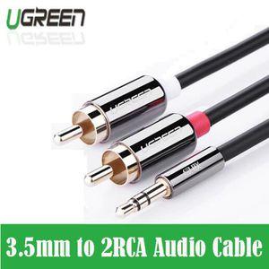 CÂBLE TV - VIDÉO - SON Câble jack rca 2 rca mâle à 3,5 mâle Câble audio a