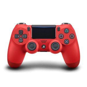 MANETTE JEUX VIDÉO Manette DualShock 4 Rouge PS4 V2+2 boutons+1 LED L