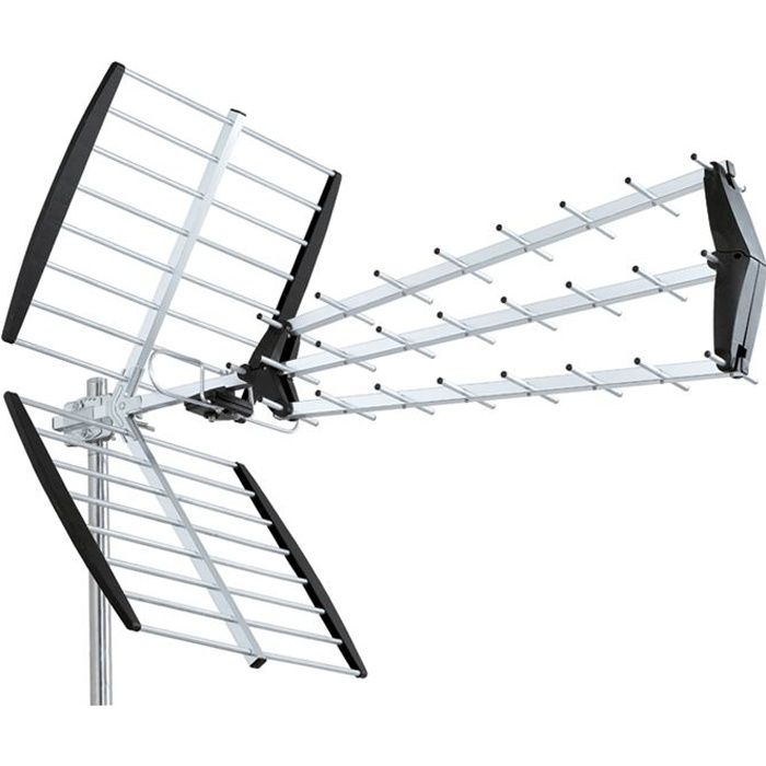 Antenne uhf trinappe tnt hd dvb t tv exterieure antenne for Orientation antenne tnt exterieur