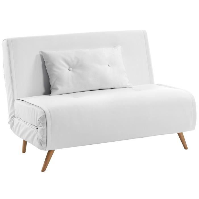 Canapé-lit design scandinave ouverture clic clac avec position de ...
