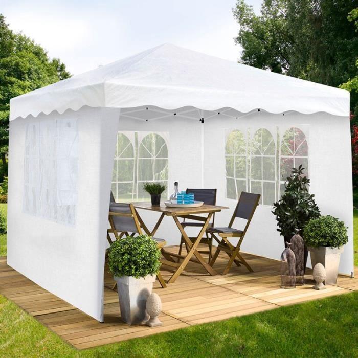 Chapiteau pliable blanc 3x3m + 3 murs tente de réception - Achat ...