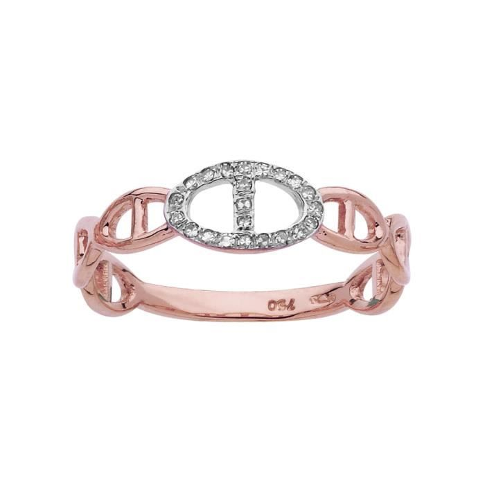 DIAMANTLY Bague diamants 0,066ct or rose or 750/1000