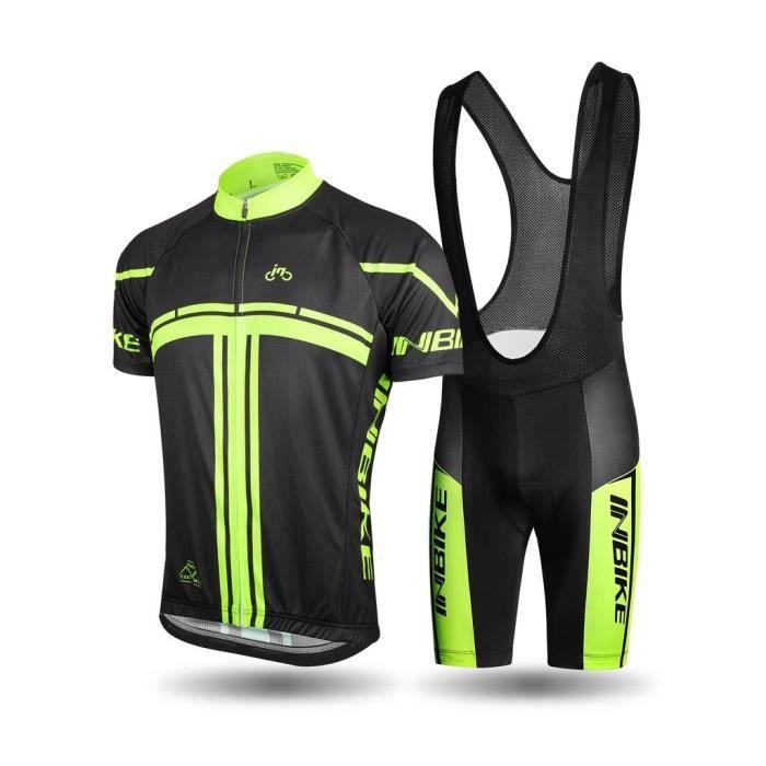 inbike ensemble v lo tenue vtt maillot cuissard bretelles cycliste cyclisme pour homme prix. Black Bedroom Furniture Sets. Home Design Ideas
