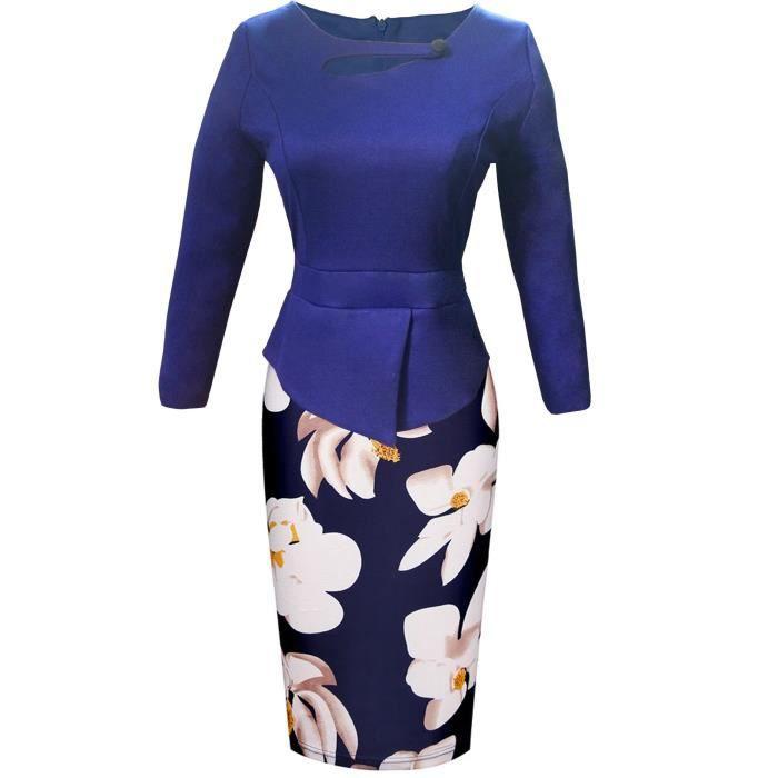 Craze ajouré été dentelle couture robe à pois asymétrique B12QR
