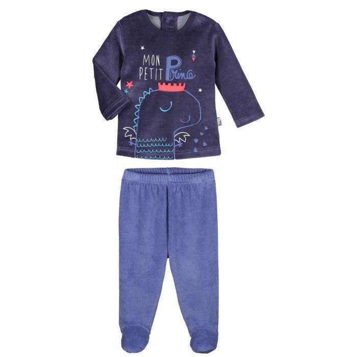 80afce54c657f Pyjama bébé 2 pièces velours avec pieds Petit Prince - Taille - 12 mois (80  cm)