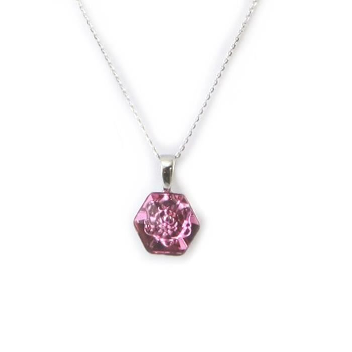 Lily-Crystal [N3553] - Collier Argent Rosa Romantica(Crystal)