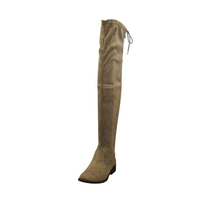 Vinci-49xx Femmes Retour Lacets Over-the-genou Bottes d'équitation ZHBOE Taille-41