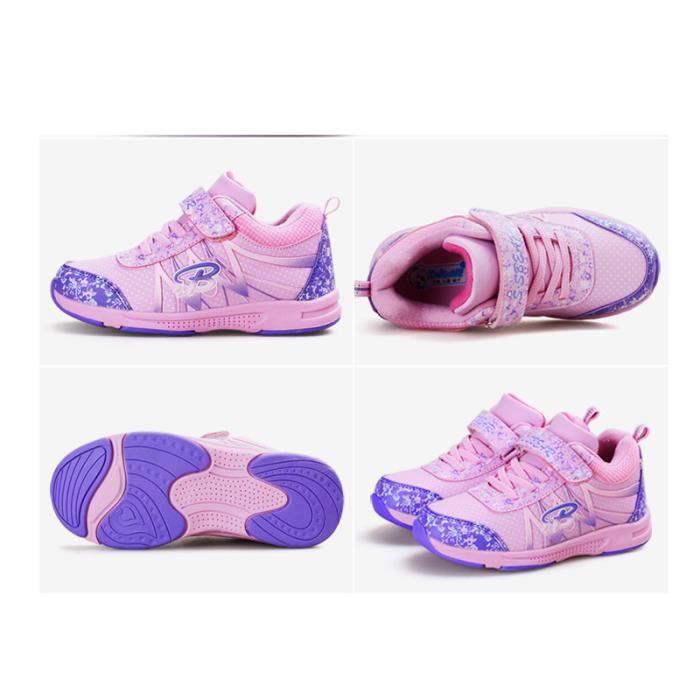 Basket Enfant Sport Respirant Ultra léger Chaussure BYLG-XZ211Violet28