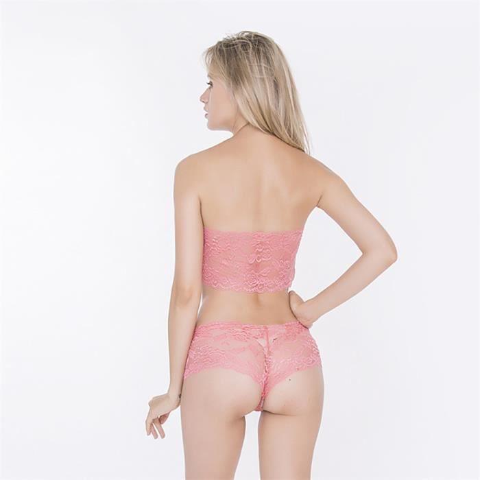 Chemise oew279 pyjama Soutien Lingerie De Sexy Sous Slip Set vêtements Corset gorge Femmes Nuit OwP1vqv