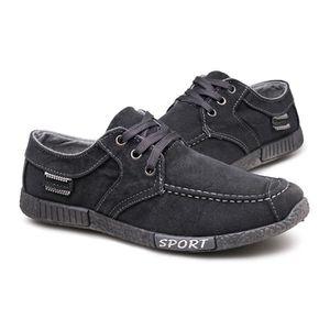 Chaussures En Toile Hommes Basses Quatre Saisons Populaire LLT-XZ112Gris40 9uiH1