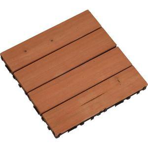 Panneau en bois pour plancher - 30 x 30 x 2,2 cm