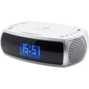 SOUDMASTER URD470WE Radio réveil numérique DAB FM avec CD MP3 et USB